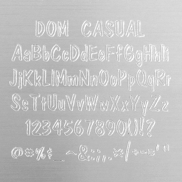 Dom Casual Engraving Font - Fun Styling