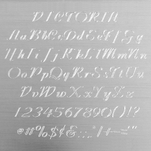 Victoria Engraving Font - Fancy Yet Easy to Read