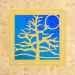Maple - Gold - Aqua Lilac Glass