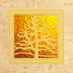 Maple - Gold Design- Gold Glass