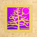 Maple - Gold - Pink Glass