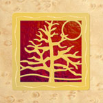 Maple - Gold - Red Glass