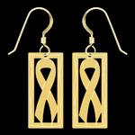 Gold Ribbon Earrings