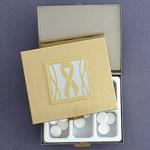 Gray Ribbon Pill Box - Large