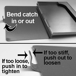 Adjust Catch on Business Card Cases