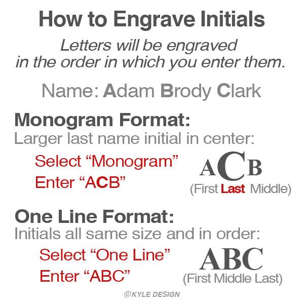 Monogram Style Engraving