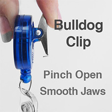 Bulldog Clip Reels Have Smooth Jaws