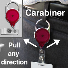 Carabiner Badge Reels for Belt Loops