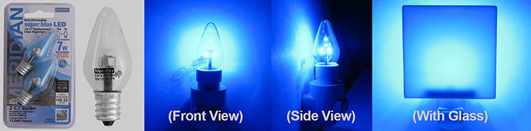Meridian Super Blue LED Night Light Bulbs