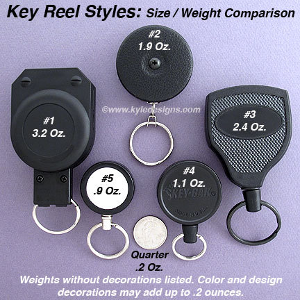 Retractable Keyring Reels for Keys