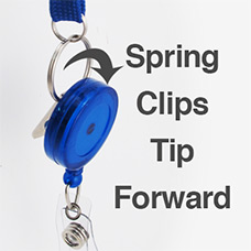 Spring Clips Make Reels Tip Forward