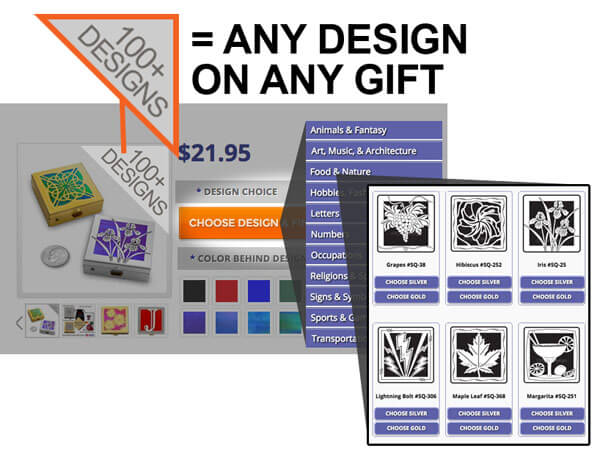 Choose Design on Any Gift