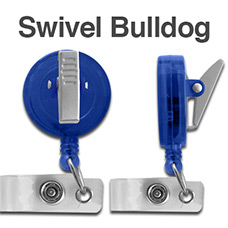 Swivel Bulldog Clip Badge Reel