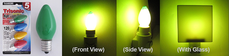 Trisonic Green Night Light Bulbs