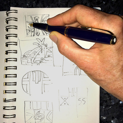 Kyle Sketches Palm Tree