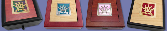 Square Design Stained Glass Colors on Wood