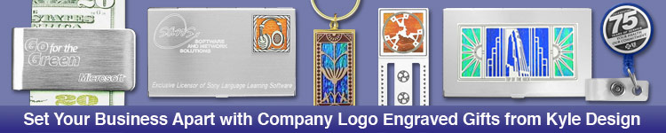 Logo engraving custom logo engraved business card cases gifts logo engraving examples logo engraved business card holders reheart Gallery