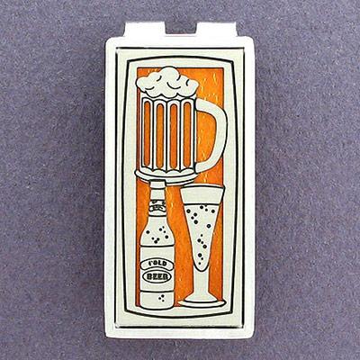 money clips with beer stein design