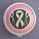 Pink Ribbon Pill Case for Breast Cancer Gifts