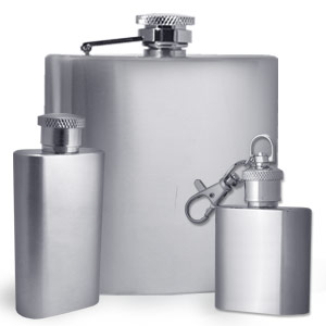 Plain Stainless Steel Flasks for Engraved Messages