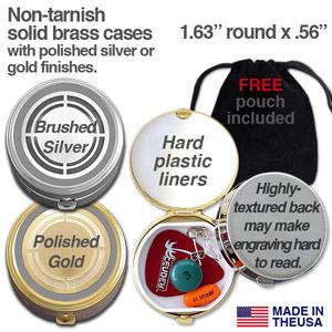 Round Designer Pill Cases
