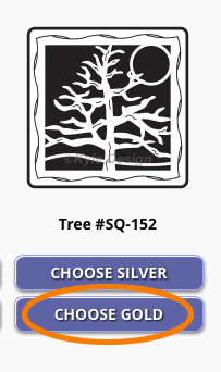 Kyle's Tree Design - Gold Selected