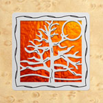 Maple - Silver - Orange Glass