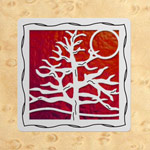 Maple - Silver - Red Glass