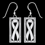 Silver Ribbon Earrings