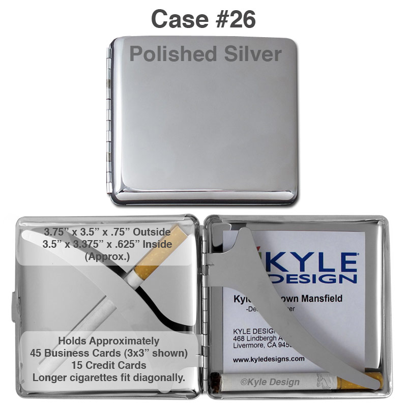 Metal Credit Card Wallet & Cigarette Case Size & Feature Comparison