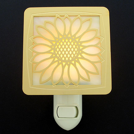 Gold with Amber Night Light - Sunflower
