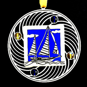 Unique Sailboat Christmas Ornaments