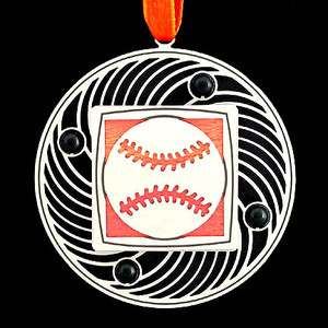 Artistic Baseball Christmas Tree Ornaments