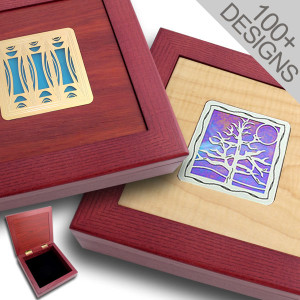 Custom Stained Glass Jewelry Boxes - 8""