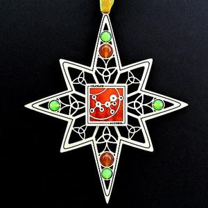 Alcohol Molecule Christmas Ornaments