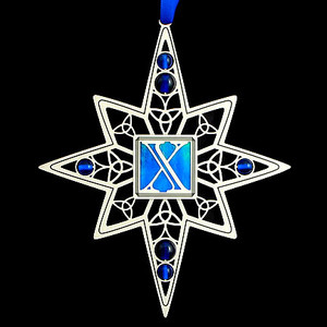 Decorative Christmas Ornaments with Letter X