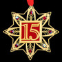 15th Wedding Anniversary Ornament