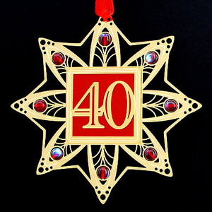 40th Birthday Christmas Ornament