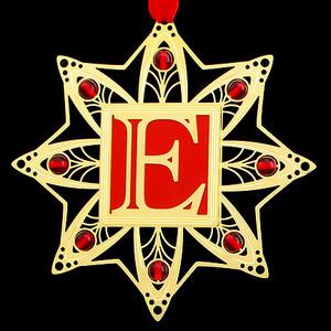 Monogram Letter E Letter Christmas Ornaments