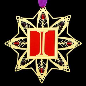 Monogram Letter I Christmas Ornaments