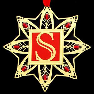Monogram Letter S Ornaments