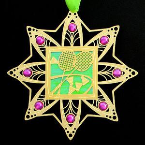 Badminton Christmas Ornament