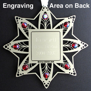 Cosmetology ornament engravable on back