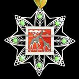 Silver Giraffe Ornament