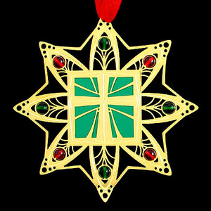 Gold Cross Ornament