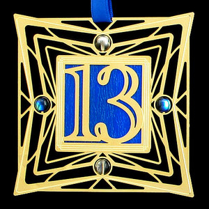 Lucky Number 13 Christmas Ornament