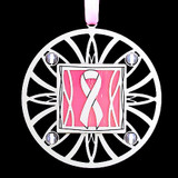 Pink Ribbon Christmas Ornament
