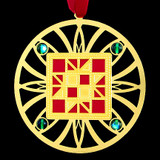 Red Quilting Ornament