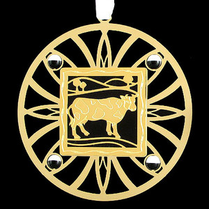 Gold Cow Ornament for Farmer