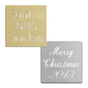 Small Ornament Engraved Plate with Adhesive Back